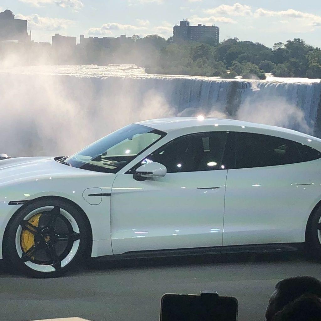 Porsche unveils Taycan electric car Exterior