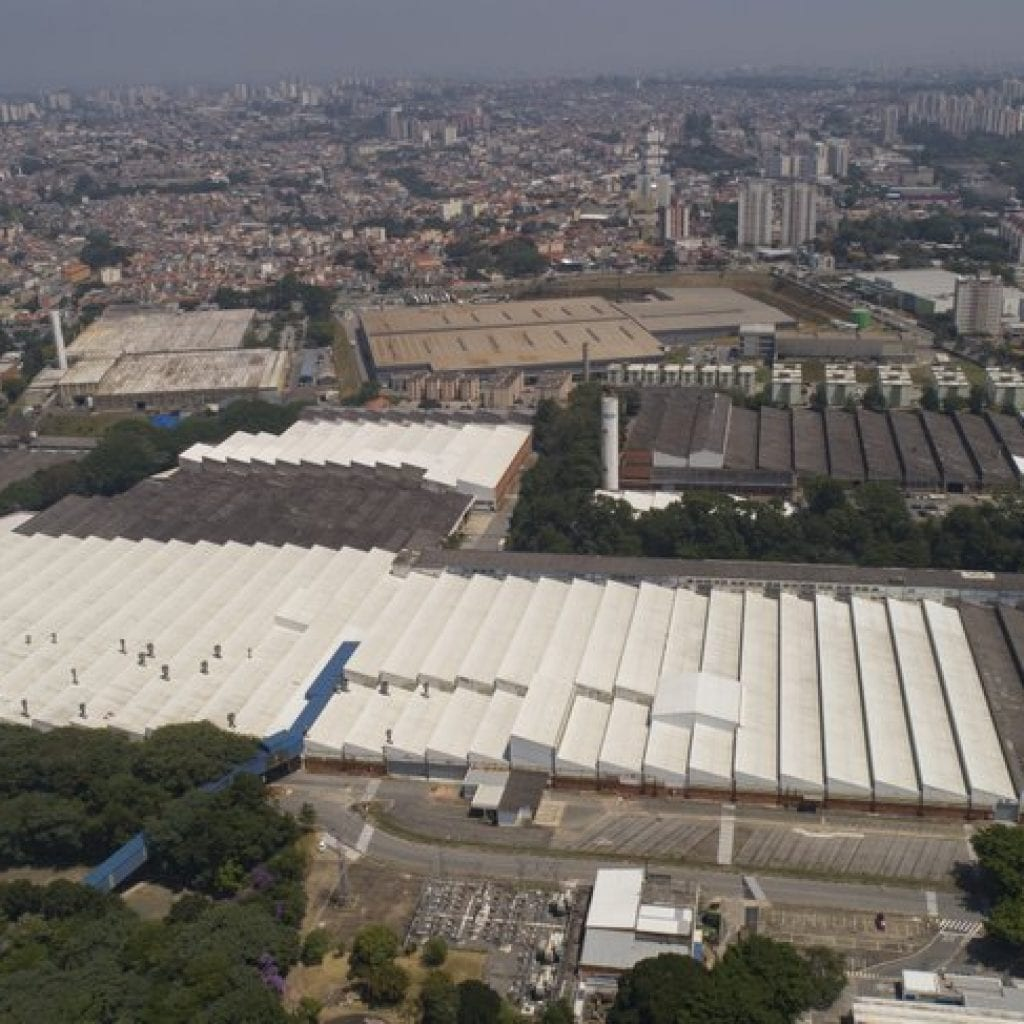 An aerial view of Ford Motors Company in Brazil.