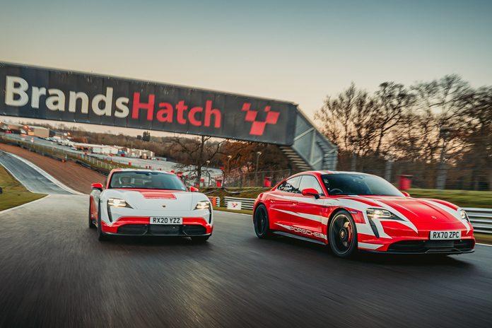 Two Porsche Taycan creates 13 records.
