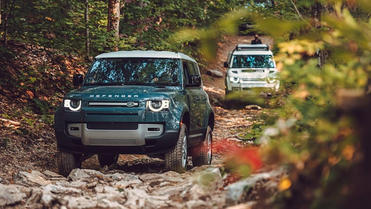 Land Rover in the beautiful areas