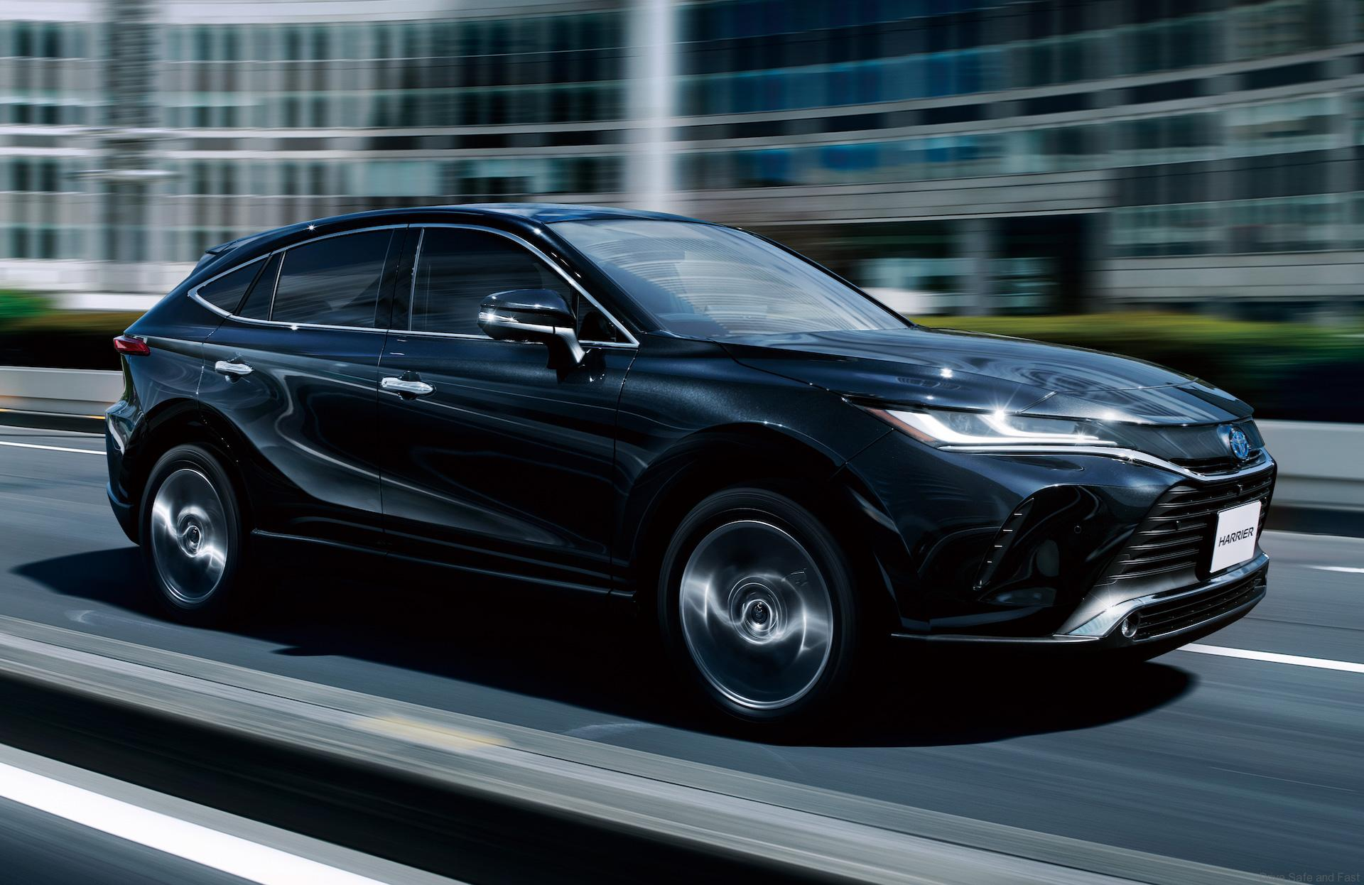 Toyota drives an electric vehicle